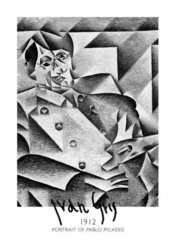 Portrait of Pablo Picasso af Juan grin fra 1912