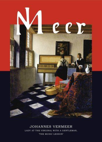 Museumsplakat med maleri af Johannes Vermeer der forestiller en musiktime