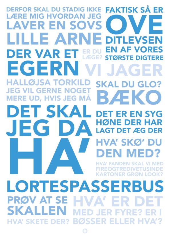 Blinkende Lygter citat plakat med de sjoveste blinkende lygter citater i blå