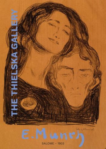 Museumsplakat med Edvard Munchs maleri Salome
