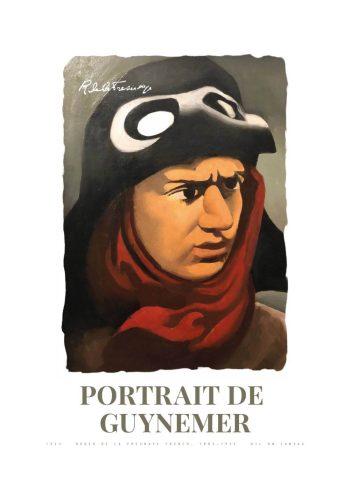 Museumsplakat med Roger de La Fresnayes portræt af Guynemer