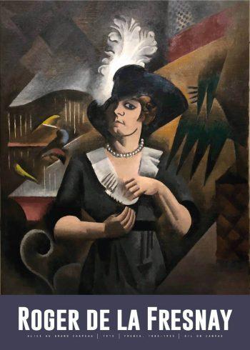Museumsplakat med maleriet Alice au grand chapeau af roger de la fresnaye