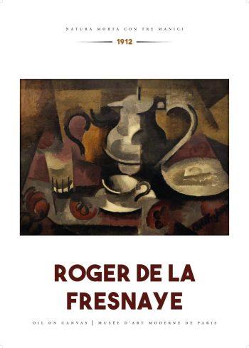 """Museumsplakat med maleriet """"Natura morta con tre manici"""" af Roger de La Fresnaye"""