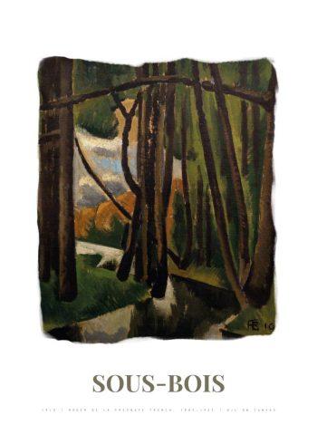 Museumsplakat med roger de la fresnayes maleri Souis bois