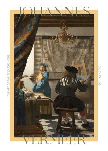 """Museumsplakat med maleriet """"The art of painting"""" af johannes vermeer"""