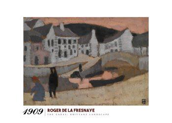 """Museumsplakat med roger de la fresnayes billede """"the canal"""""""