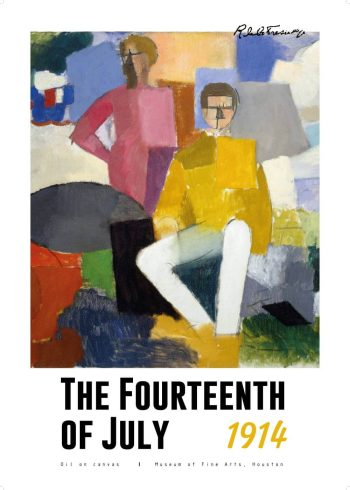 "Museumsplakat med maleriet ""The fourteenth of july"" af Fresnaye"