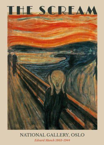"""Museumsplakat med Edvard Munchs maleri """"Skriget"""""""