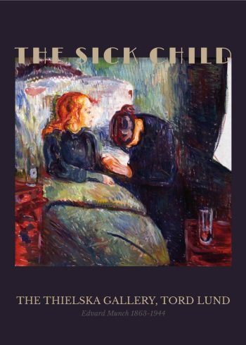 Museumsplakat med Edvard Munchs maleri Det syke barn
