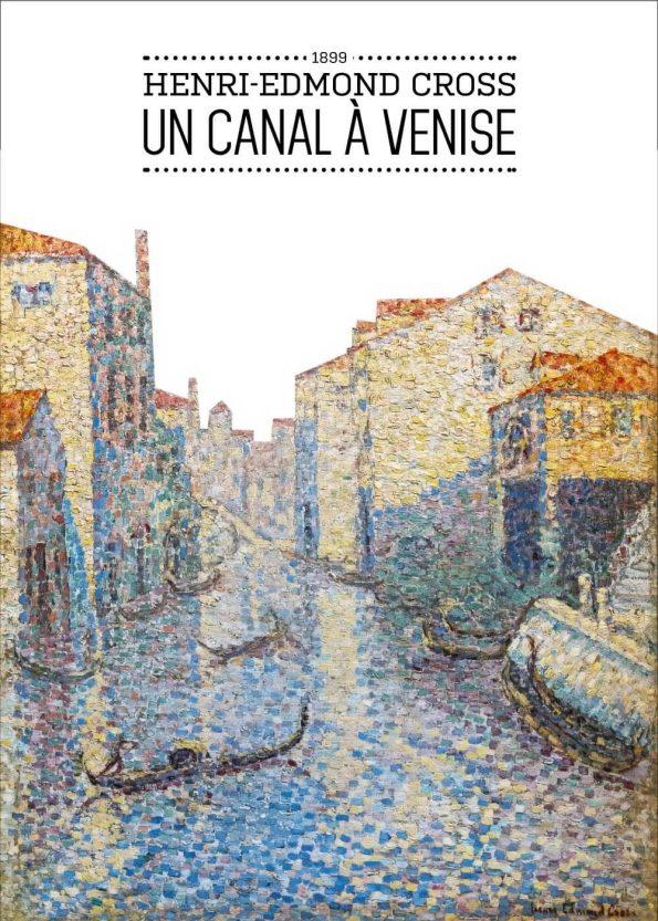 Maleriet forestiller en kanal som går gennem Venedigs gader, med huse på hver side