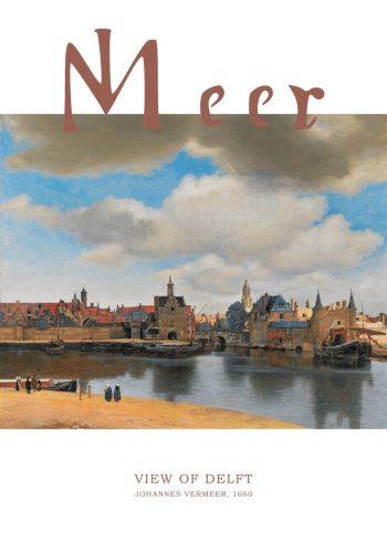 Barokmaleri af byen Delft af Johannes Vermeer