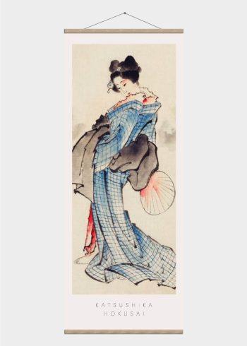 japansk kvinde - japansk kunst plakat