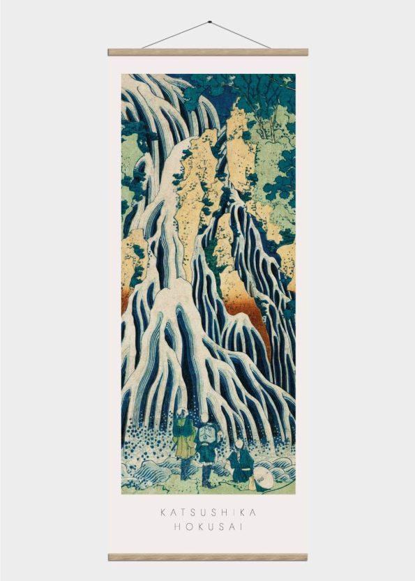 vandfald - japansk kunst plakat