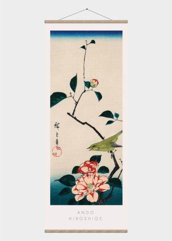 blomster - japansk kunst plakat