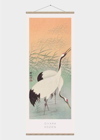 storke - japansk kunst plakat
