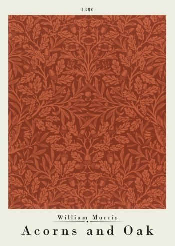 acorns and oak pattern by morris