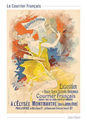Jules Chéret plakater til hjemmet med i gule og orange farver