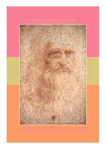 Leonardo da vinci plakater i flotte farver