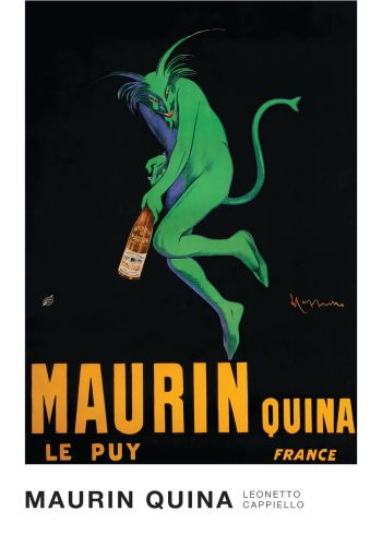Maurin quina - plakat af leonetto, fin plakat