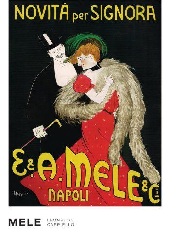 Mele plakat af Leonetto Cappielle, et trykkekunstner par - stilren og fint billede
