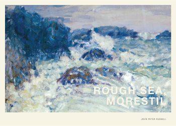Maleri af blå, urolige bølger