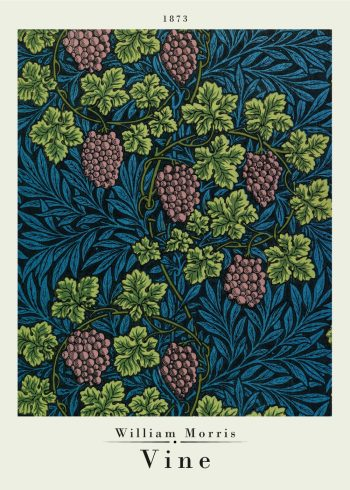Vine pattern by morris on poster