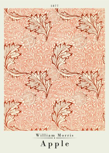 poster by william morris with apple