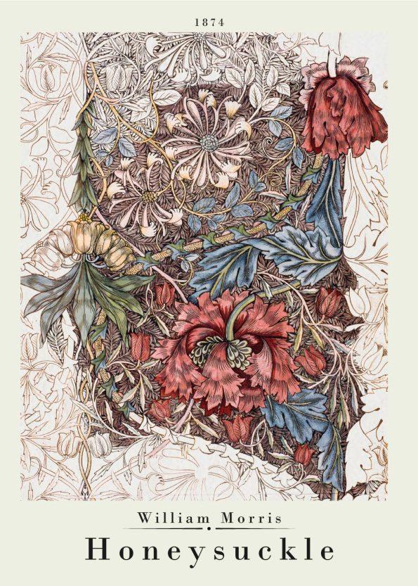 honeysuckle poster by william morris