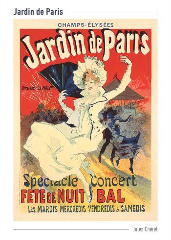 jardin de paris plakat i røde farver