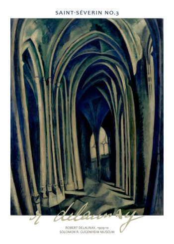 saint severin poster by delaunay