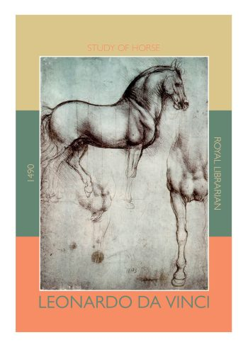 da vinci poster with horse