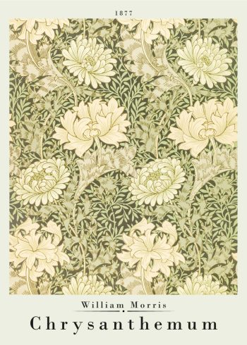 William morris poster of chrystanthemums