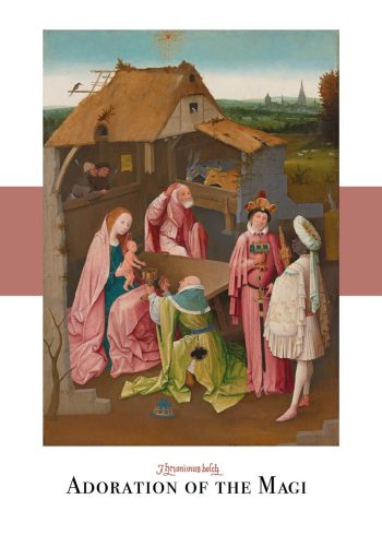 Adoration of the magi plakat af Hieronymus Bosch