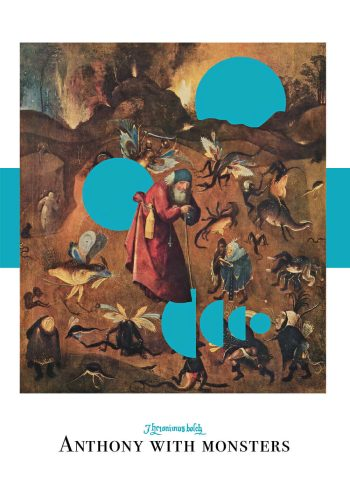 Anthony with monsters poster art plakat af Hieronymus Bosch