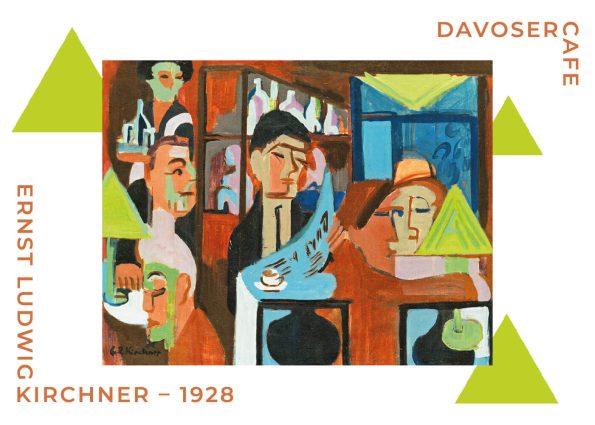 Davoser cafe af Ernst L. Kirchner fra 1928