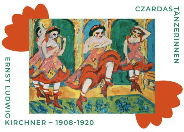 Czardas Tänzerinnen af Ernst L Kirchner