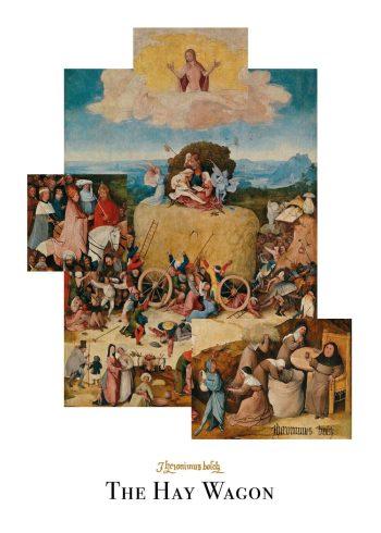 The hay wagon plakat af Hieronymus Bosch