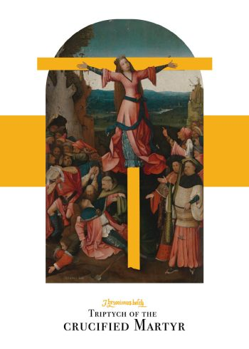 Triptych of the crucified martyr plakat af Hieronymus