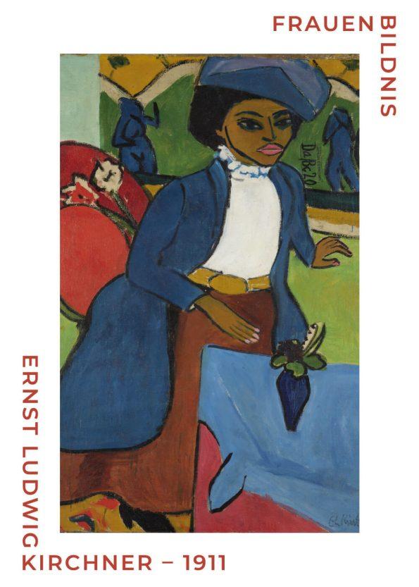 Frauenbildnis - museumsplakat af Ernst L. Kirchner