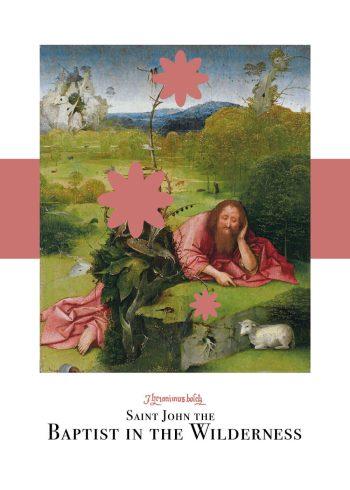 Saint john the baptist of the wilderness plakat i pink af Hieronymus Bosch