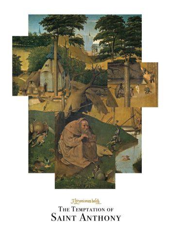 The temptation of saint anthony plakat af Hieronymus Bosch