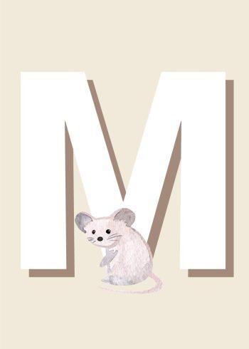 hvid mus, hvidt m, beige baggrund