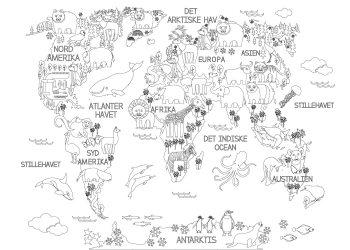 mal selv verdenskort til boern
