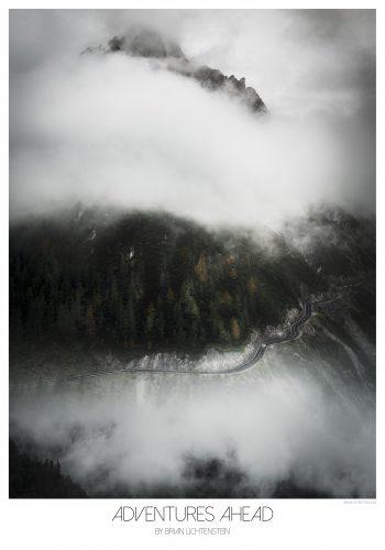 sort hvid, tåge