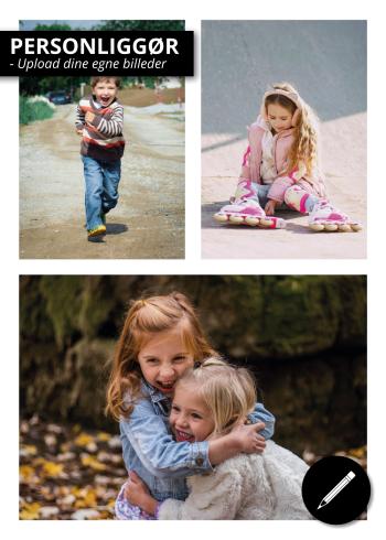 Plakat med tre af dine egne billeder