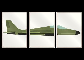 grøn jetsager 3 i 1, råhvid baggrund
