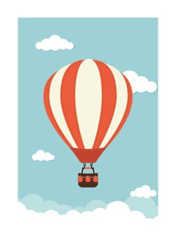 rød og hvid luftballon i himlen