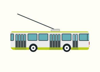 grøn og grå sporvogn på rå hvid baggrund