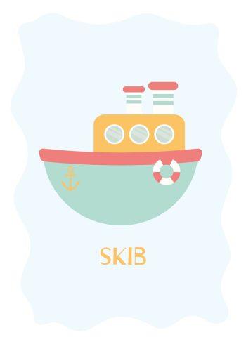 skib med redningskrans og anker