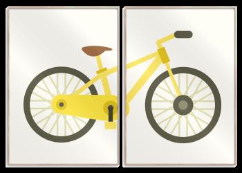 2 i 1 plakat med en gul cykel
